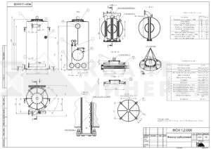 Габаритный чертеж фильтра ФСН-1,2