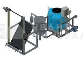 Установка приготовления раствора щелочи УПР-500