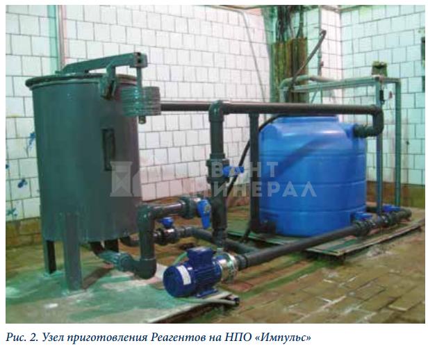 установка приготовления известкового молока на НПО Импульс