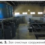 Зал очистных сооружений
