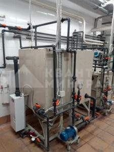 установка растворения цианидов NaCn и KCn